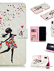 cheap -Case For Apple iPhone XR / iPhone XS Max Flip / with Stand / Shockproof Full Body Cases Cartoon / Sexy Lady Hard PU Leather for iPhone 6 / 6s Plus /7/8 Plus/XS/X