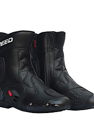 cheap -Men Motorcycle Racing Shoes Leather Motorcycle Boots Riding Motorbike Motocross Off-Road Moto Boots Shoe