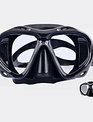 cheap -Snorkel Mask Waterproof Anti Fog UV Protection Two-Window - Swimming Diving Scuba Tempered Glass - For Adults Yellow Red Blue White Black