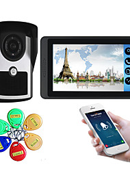 cheap -7 inch capacitive touch screen video camera wired video doorbell wifi / 3G / 4G remote call unlock storage visual intercom external machine ID card function one to one