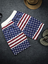 cheap -Adults' Men's Cosplay Beach Style American Flag Pants Cosplay Costume For Halloween Daily Wear Polyster Independence Day Pants