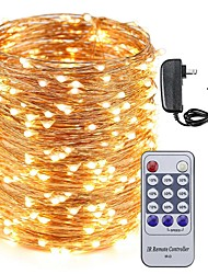 cheap -KWB 50M LED Copper Wire  String Lights 500LEDs Starry Lights  and 12V 3A Power Adapter and Remote Control Christmas Holiday