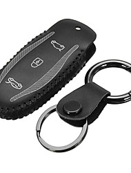 cheap -Car Remote Fob Key Stitching PU Leather Case Holder Cover For Tesla Model S