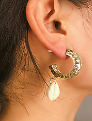 cheap -Women's Stud Earrings Earrings Shell Earrings Jewelry Gold / Silver For Party Daily Street Holiday Festival 1 Pair