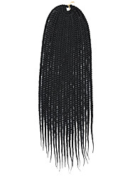 cheap -Braiding Hair Straight Hair Care Extension Twist Braids Synthetic Hair 6 pack Hair Braids Black Multi-color 14-24 inch 24 inch 18 inch 20 inch Color Gradient Ombre Braiding Hair Crochet Braids