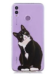 cheap -Case For Huawei Honor 8X / Huawei P Smart (2019) Pattern / Transparent Back Cover Black Cat Soft TPU for Mate20 Lite / Mate10 Lite / Y6 (2018) / P20 Lite / Nova 3i / P Smart / P20 Pro