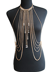 cheap -Women's Body Jewelry Body Chain Crystal Gold / Silver Dainty / Ladies / Bohemian Crystal / Alloy Costume Jewelry For Special Occasion / Gift / Casual Summer