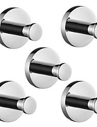 cheap -Robe Hook Premium Design / Creative Traditional / Modern Metal 5pcs - Bathroom Wall Mounted