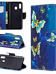 cheap -Case For Samsung Galaxy A6 (2018) / A6+ (2018) / A3(2017) Wallet / with Stand / Flip Full Body Cases Butterfly Hard PU Leather
