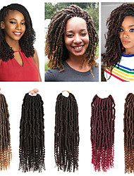 """cheap -Laflare Ombre Hair Weaves / Hair Bulk Extension Curly Braids Curly Synthetic Hair 14"""" Hair Extension Bulk Hair Hair weave Drawstring 3 Pieces Extention Best Quality New Women's Christmas Halloween"""