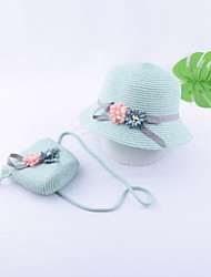 cheap -Kids / Toddler Girls' Vintage / Active / Basic Floral / Solid Colored Bow / Flower / Stylish Polyester Hats & Caps White / Blushing Pink / Light Green One-Size / Sweet / Boho / Sophisticated