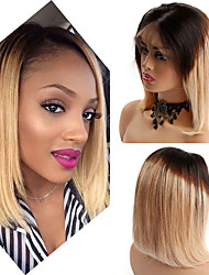 cheap -Human Hair Lace Front Wig Bob style Brazilian Hair Straight Red Wig 130% Density Women Best Quality New New Arrival Hot Sale Women's Short Wig Accessories Human Hair Lace Wig Laflare