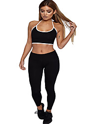 cheap -Women's Tracksuit Yoga Suit Fashion Yoga Running Fitness Pants / Trousers Top Sleeveless Activewear Lightweight Breathable Sweat-wicking Butt Lift Micro-elastic Slim