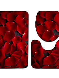 cheap -1 set Classic Bath Mats 100g / m2 Polyester Knit Stretch Geometric / Novelty / Floral Print Non-Slip / New Design
