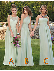 cheap -A-Line One Shoulder / Sweetheart Neckline Floor Length Chiffon Bridesmaid Dress with Lace / Ruching