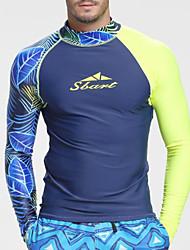cheap -SBART Men's Rash Guard Nylon Spandex Sun Shirt Swim Shirt Breathable Quick Dry High Elasticity Long Sleeve Swimming Diving Surfing Patchwork Summer Spring, Fall, Winter, Summer / Stretchy / UPF50+