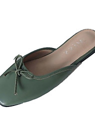cheap -Women's Clogs & Mules Comfort Shoes Flat Heel Bowknot PU Casual Summer Green