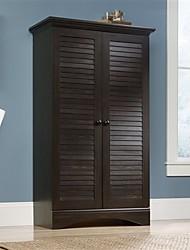 Недорогие -многоцелевой шкаф шкаф для хранения шкаф с темно-коричневой отделкой под старину
