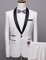 cheap -Tuxedos Tailored Fit Shawl Collar Single Breasted One-button Polyester Solid Colored
