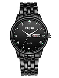 cheap -WLISTH Men's Steel Band Watches Analog Quartz Casual Calendar / date / day Day Date