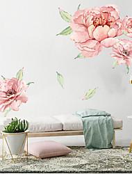 abordables -stickers muraux grandes fleurs roses - mots& ampamp citations stickers muraux personnages bureau / bureau / salle à manger / cuisine