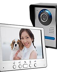 cheap -Ultra-thin 7-inch wired video doorbell HD villa video intercom outdoor unit angle adjustable 815FA11