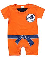 cheap -Baby Boys' Active Geometric Print Short Sleeves Romper Orange