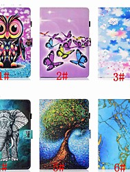 cheap -Case For Samsung Galaxy Samsung Tab A 10.1(2019)T510 Card Holder / Shockproof / with Stand Full Body Cases Animal / Cartoon / Tree Hard PU Leather