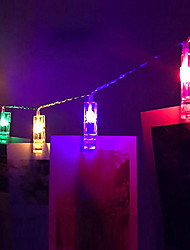 cheap -1.5M 10LEDs String Lights Home Wall Hanging Card Picture Clips Photo Pegs String Light Lamp Indoor Decor Fashion String Lamp 3V 1pc