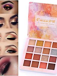abordables -marque cmaadu 16 couleur brillant métal perle fard à paupières imperméable mat fard à paupières durable maquillage pour les yeux