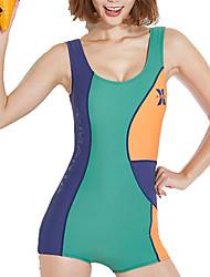 cheap -Dive&Sail Women's One Piece Swimsuit Elastane Bodysuit High Elasticity Sleeveless Boyleg - Outdoor Patchwork Summer
