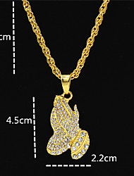cheap -Men's Women's Gold Chain Necklace Statement Necklace Chains Layered Totem Series Face Statement Punk Trendy Rock 18K Gold Plated Zircon Chrome Gold 70 cm Necklace Jewelry 1pc For Carnival Street Club