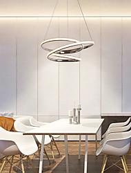 cheap -1-Light LED Pendant Light Twist 3-Layers 48cm Circular Chrome Chandelier 40W Lighting Lamp Ambient Light for Living Room Kitchen