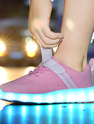 cheap -Boys / Girls USB Charging  LED / LED Shoes Faux Leather / Flyknit Sneakers Little Kids(4-7ys) / Big Kids(7years +) Walking Shoes LED Red / Blue / Pink Spring / Summer / Rubber