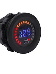 cheap -12V Car Motorcycle Yacht Marine Color Screen Voltmeter LED Digital Display Voltmeter Instrument