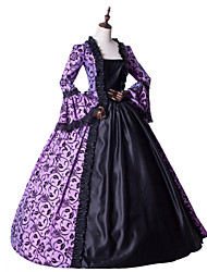 cheap -Princess Maria Antonietta Floral Style Rococo Victorian Renaissance Dress Party Costume Masquerade Women's Lace Costume Light Purple Vintage Cosplay Christmas Halloween Party / Evening 3/4 Length
