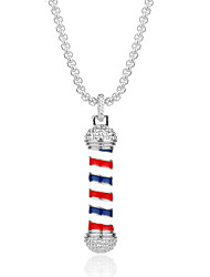 cheap -Men's Pendant Necklace American flag Patriotic Jewelry European Trendy Casual / Sporty Chrome Silver 58 cm Necklace Jewelry 1pc For Gift Daily Festival