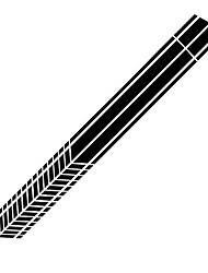 Недорогие -2 шт. / Компл. 2 м. Стикер автомобиля спортивные гоночные полосы графические наклейки авто кузов кузов боковая дверь виниловые наклейки