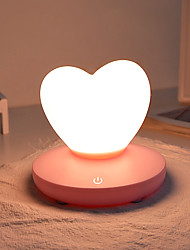 cheap -1pc Heart Shape Nursery Night Light / Smart Night Light Warm White AC Powered Safety / Stress and Anxiety Relief / Rechargeable 5 V