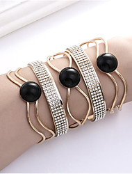 cheap -Women's Cuff Bracelet Hollow Out Happy Fashion Resin Bracelet Jewelry Black / Coffee For Gift Daily