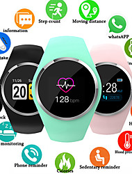 cheap -Q1 Smart Watch Women 0.96 Color LCD Screen Blood Pressure Heart Rate Monitor Smartwatch For Android IOS
