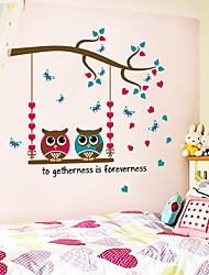 cheap -Decorative Wall Stickers - Plane Wall Stickers Animals / Hearts Bedroom / Indoor