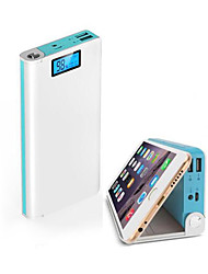 cheap -Portable Battery Mobile Power Bank 20000 mAh USB Charger With LED Indicator And Phone Stand