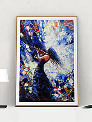 cheap -Framed Art Print Framed Canvas Prints - People PS Oil Painting Wall Art