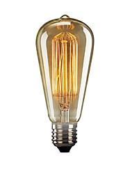 cheap -1pc 60 W E26 / E27 ST64 Warm White 2300 k Retro / Decorative Incandescent Vintage Edison Light Bulb 220 V / 110 V