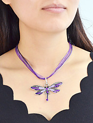 cheap -Women's Pendant Necklace Necklace Classic Butterfly Simple Trendy Fashion Boho Chrome Black Light Purple Burgundy Coffee 50.7 cm Necklace Jewelry 1pc For Gift Carnival Prom School Festival