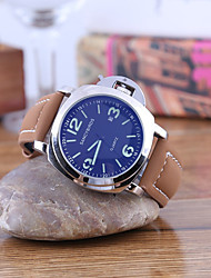 cheap -Men's Dress Watch Quartz Leather Brown Casual Watch Analog Minimalist Cool - Black Golden Silver / Stainless Steel