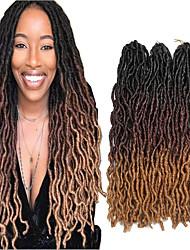 cheap -Faux Locs Dreadlocks Nu Locs Box Braids Natural Color Synthetic Hair 18 inch Braiding Hair 3 Pieces
