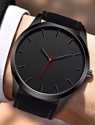 cheap -Men's Dress Watch Quartz Stylish Leather Black / Brown 30 m Water Resistant / Waterproof Creative Casual Watch Analog Casual Fashion - Black Brown One Year Battery Life