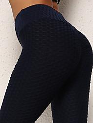 Недорогие -Жен. Завышенная Штаны для йоги Жаккард Подъемный крюк Мода Черный Серый Белый Небесно-голубой Лиловый Спандекс Бег Фитнес Тренировка в тренажерном зале Велоспорт Колготки Леггинсы Спорт
